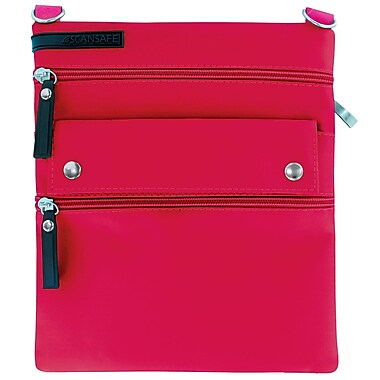 Scan Safe Crossbody Bag, Large, Pink, (SSJOU-PNK)
