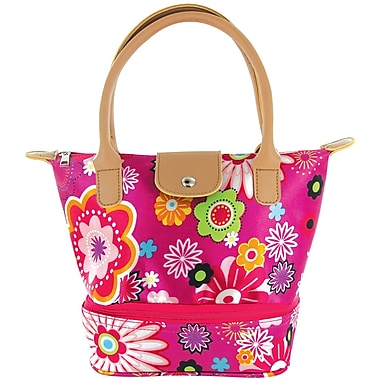 Tempamate Insulated Lunch Tote Bag, Flowers, Pink (TMLNH-FLP)