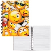"Merangue Emoji Lenticular Notebook, 6"" x 8"", 12/Pack"
