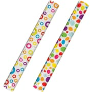 """Merangue 12""""/30cm Clear Ruler with Design, 12/Pack"""