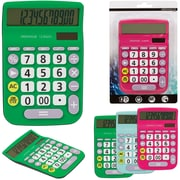 Merangue 12-Digit Desktop Calculator, Assorted Colours, 12/Pack