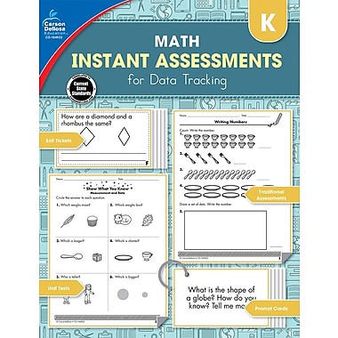Carson-Dellosa Publishing Instant Assessments for Data Tracking: Math Workbook