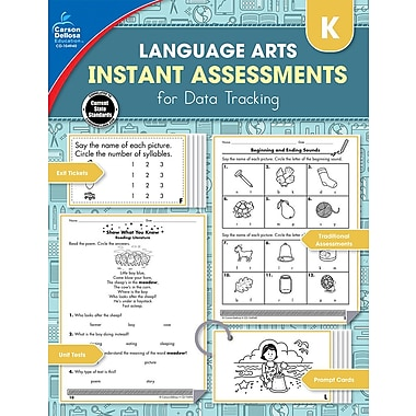 Carson-Dellosa Publishing Instant Assessments for Data Tracking: Language Arts Workbook