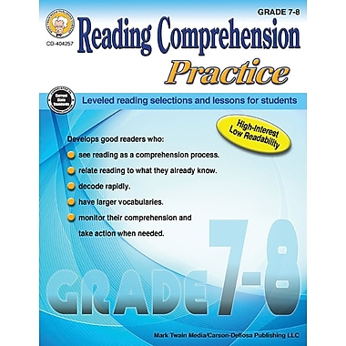 Mark Twain Media Reading Comprehension Practice Workbook, Grades 7 - 8 [eBook]