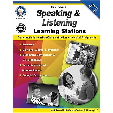 Mark Twain Media Speaking and Listening Learning Stations Workbook, Grades 6 - 8 [eBook]