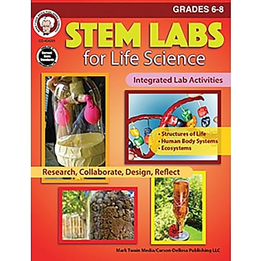 Mark Twain Media STEM Labs for Life Science Workbook, Grades 6 - 8 [eBook]