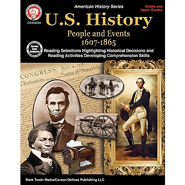 Mark Twain Media U.S. History 1607-1865 Workbook, Grades 6 - 12 [eBook]