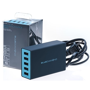 BlueDiamond – Chargeur USB de table SmartCharge Pro, 5 ports, 8 A (36691)