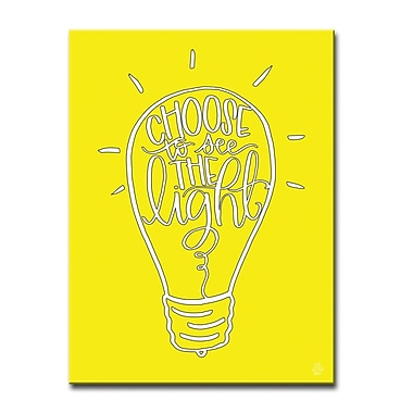 Ready2hangart 'Choose Light' Graphic Art on Wrapped Canvas; 16'' H x 12'' W x 1.5'' D
