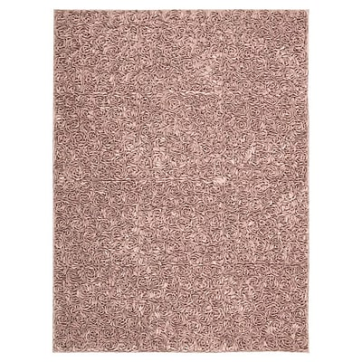 One Allium Way Geomar Handmade Pink Area Rug; 5'6'' x 7'5''
