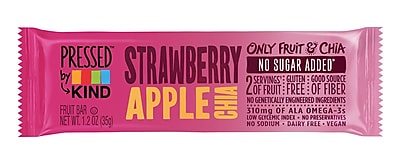 KIND Pressed Bar, Strawberry Apple Chia, 1.2 oz, 12/Box (PHW24842)