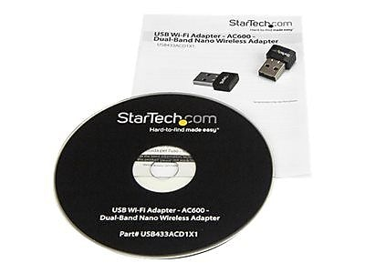 StarTech USB Wi-Fi Adapter AC600 Dual-Band Nano Wireless Adapter Network Adapter USB 2.0