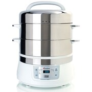 Euro Cuisine 2-Tier, 17-Quart Stainless Steel Electric Food Steamer (FS2500)