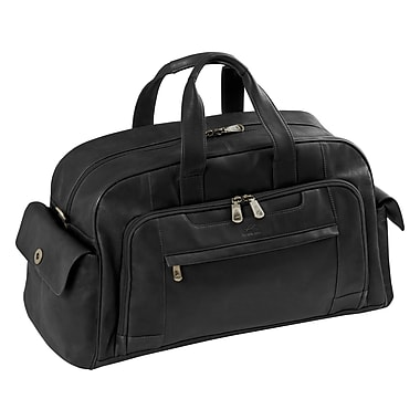 Mancini Colombian Collection Black Leather Duffle Bag (98227-BLACK)