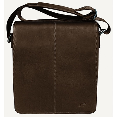 Mancini Colombian Collection Brown Leather RFID Secure Messenger Style Unisex Bag (98226-BROWN)