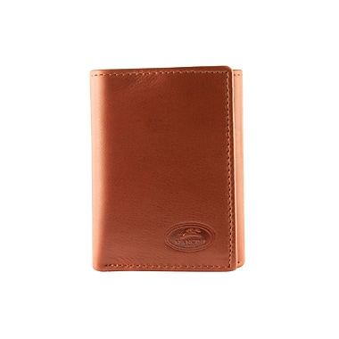 Mancini Manchester Collection Cognac Leather RFID Secure Men's Trifiold Wing Wallet (2010103-COGNAC)