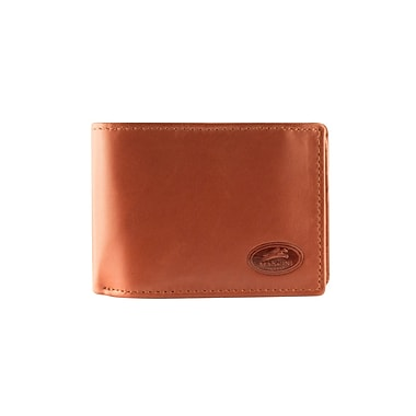 Mancini Manchester Collection Cognac Leather RFID Secure Men's Center Wing Wallet (2010106-COGNAC)