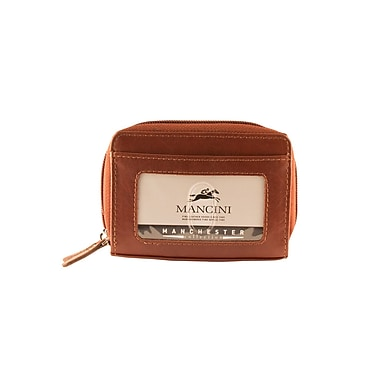 Mancini Manchester Collection Cognac Leather RFID Secure Accordian Card Case (2010115-COGNAC)