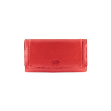 Mancini Manchester Collection Red Leather RFID Secure Ladies Clutch Wallet (2010122-RED)