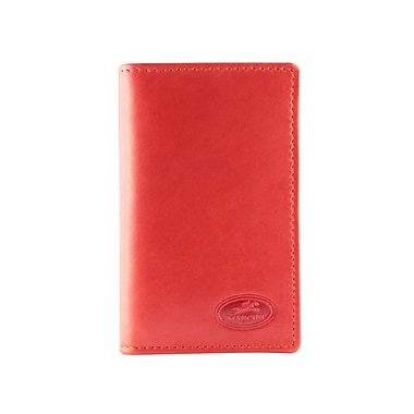 Mancini Manchester Collection Red Leather RFID Secure Credit Card Case (2010126-RED)