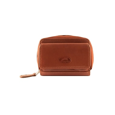Mancini Manchester Collection Cognac Leather RFID Secure Accordian Credit Card Case (2010136-COGNAC)