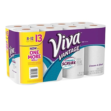 Viva® Vantage™ – Essuie-tout, mesure-à-choix, rouleau géant, paq./6