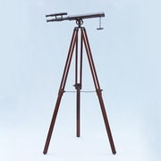 Handcrafted Nautical Decor Griffith Astro Refractor Telescope; Oil Rubbed Bronze/Black Leather