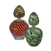 Dale Tiffany 2-Piece Swirl Perfume Bottle