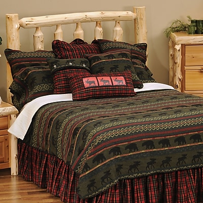 Wooded River McWoods I 7 Piece Coverlet Set; King
