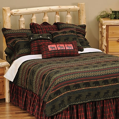 Wooded River McWoods I 4 Piece Coverlet Set; Super Queen