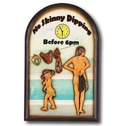 RAM Game Room ''No Skinny Dipping Before 6 pm''  Outdoor Sign
