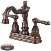 Pioneer Americana Double Handle Centerset Bathroom Faucet; Moroccan Bronze by