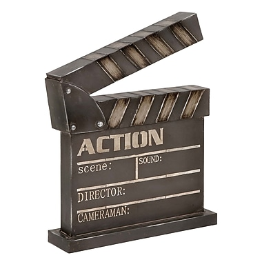 ABCHomeCollection Vintage Rustic Iron ''Action'' Clapper Board Wall D cor