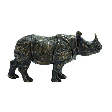 ABCHomeCollection Standing Rhinoceros Figurine