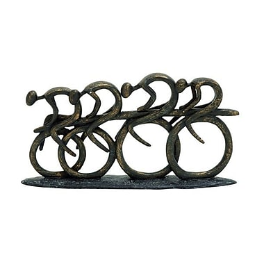 ABCHomeCollection Racing Bicyclists Sculpture