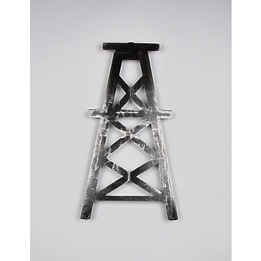 Metrotex Designs Oil Derrick Wall D cor; Natural Steel Lacquered