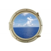 Handcrafted Nautical Decor Decorative Ship Porthole Window Wall D cor; 24'' H x 20'' W x 4.5'' D