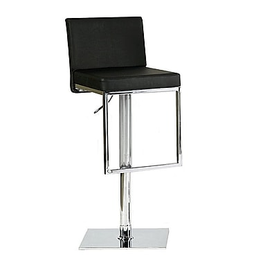 Bellini Modern Living Ann Adjustable Height Swivel Bar Stool; Brown