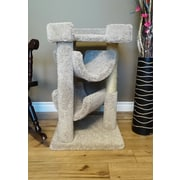 New Cat Condos 33'' Premier Cat Scratching Tree; Beige