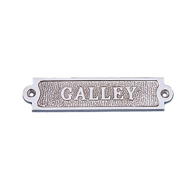 Handcrafted Nautical Decor 6'' Chrome Galley Sign Wall D cor