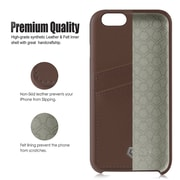 "Cobble Pro PU Leather Credit Card Shell Back Case for iPhone 6/6s 4.7"" inch, Brown"