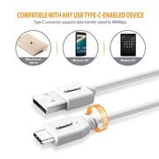 BasAcc 3.3FT USB 2.0 Type C Male to USB Type A Male Cable (USB-C to USB-A) - White