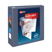 Avery Heavy-Duty EZD 4-Inch 3-Ring View Binder, Purple (79341)