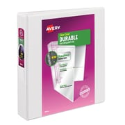 "Avery Durable View Binder with EZD™ Ring, White, 400-Sheet Capacity, 1 1/2"" (Ring Diameter), 12/Pack"