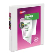 "1"" Avery® Durable View Binder with EZD Rings, White"