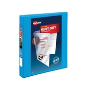 "1"" Avery® Heavy-Duty View Binder with One Touch Slant-D™ Rings, Light Blue"