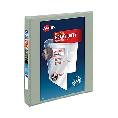 Avery Heavy-Duty 1-Inch Slant D 3-Ring View Binder, Gray (05303)