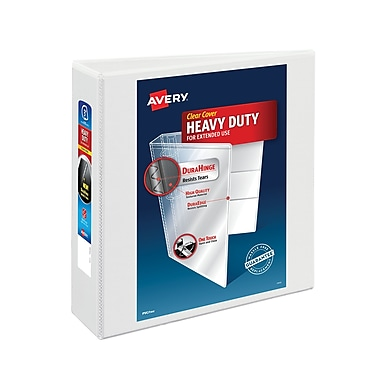 Avery 3-Inch Slant D 3-Ring View Binder, White (5604)