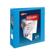 "3"" Avery® Heavy-Duty View Binder with One Touch Slant-D™ Rings, Light Blue"