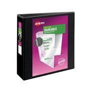 "Avery Durable View Binder, 3"" EZD Rings, 670 Sheet Capacity, DuraHinge, Black (09700)"